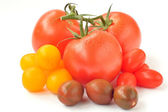 Cherry tomatoes of different colors — Stock Photo