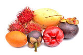 Set of tropical fruit — Stock Photo