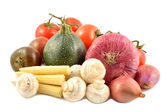 Set of vegetables on a white background — Stock Photo