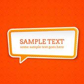 Speech bubble at seamless background — Stock Vector