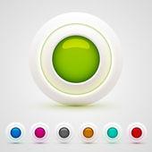 веб-кнопок набор — Cтоковый вектор