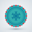 Merry Christmas Badge — Stock Vector #15898043