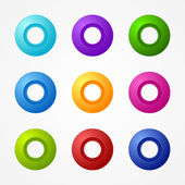Vector web botones pack — Vector de stock