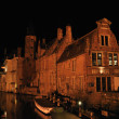 Brugge in night — Stock Photo