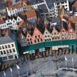 Stock Photo: Brugge - Grote Markt birds eye view