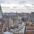 Medieval city of Gent (Ghent) aerial view, Belgium — Foto de stock #22564999
