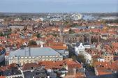 Brugge - birds eye view — Stock Photo