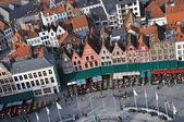 Brugge - Grote Markt birds eye view — Stock Photo