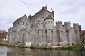 Gravesteen castle in Ghent, Belgium (panorama) — Stock Photo