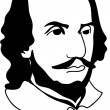 Stock Vector: William Shakespeare (vector)