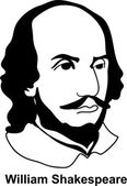 William Shakespeare (vector) — Stock Vector