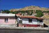 Tradional Turkish Houses, old village street (Pergamon) — Stock Photo
