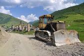 Grade builder and unesco village Usghuli — Stock Photo
