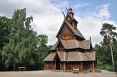 Gol stave church in Folks museum Oslo — Stock Photo
