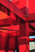 Red metal construction — Stock Photo