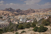 View from Petra town to archeological site Petra — Stock Photo