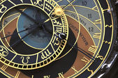 Prague orloj (astronomical clock) — Stock Photo