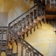 Decorated wooden stairs - Foto de Stock
