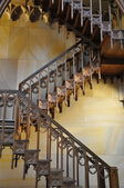 Decorated wooden stairs — Stock Photo