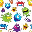Cute Monster Seamless Pattern — Stock Vector #28689333