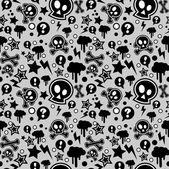 Seamless pattern, urban or punk pop feel — Stock Vector