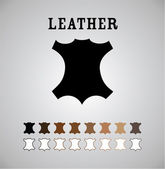 Leather Mark — Stock Vector