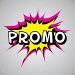 Comic book explosion bubble - promo — Stock Vector