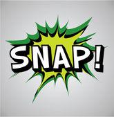 Comic book exploze bublina - snap — Stock vektor