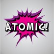 Comic book explosion bubble - atomic — Stock Vector #29398843