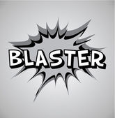 Comic book explosion bubble - blaster — Vector de stock
