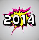 Comic book explosion bubble - 2014 — Stock Vector