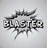 Comic book výbuch bubliny - blaster — Stock vektor