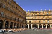 The Plaza Mayor in Salamanca — Stock Photo