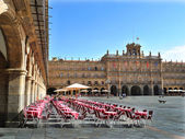 The Plaza Mayor in Salamanca — Stock Photo