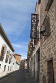 Sign of Hotel in Avila — Stock Photo
