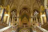 Interior of the Parliament in Budapest (Hungary) — Stock Photo
