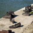 Shoes on the Danube Promenade, Budapest (Hungary) — Stock Photo