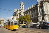 Tram number 2 in Budapest (Hungary) — Stock Photo