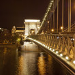 Chains Bridge in Budapest (Hungary) — Photo