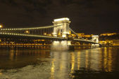 Chains Bridge in Budapest (Hungary) — Foto de Stock