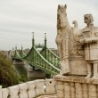 Statue of Istvan in Budapest (Hungary) — Stock Photo