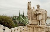 Statue of Istvan in Budapest (Hungary) — Stock Photo