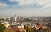 Aerial view of Budapest (Hungary) — Stock Photo