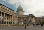 Buda castle in Budapest (Hungary) — Stock Photo