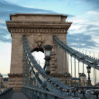 Chain Bridge in Budapest (Hungary) — Stock Photo