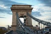 Chain Bridge in Budapest (Hungary) — Stock Photo
