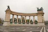 Heroes Square in Budapest (Hungary) — Stock Photo