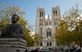 St. Michael and Gudula Cathedral. Brussels. Belgium — Stock Photo
