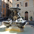 Fountain of the four turtle in Rome - Stock Photo