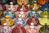 Moroccan Tajines in Marrakech — Stock Photo